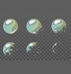 Bubble burst sprites for animation vector