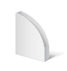 Cardboard holder for brochures and flyers vector image
