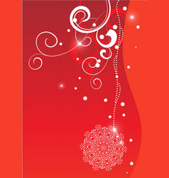 Christmas red greeting card vector