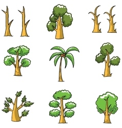 Doodle of tree unique collection vector