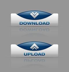 Download upload blue vector image vector image
