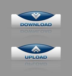 Download upload blue vector image