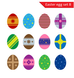 easter eggs set vector image