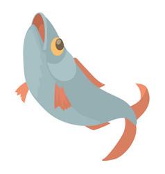 fish icon cartoon style vector image vector image