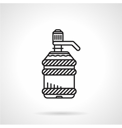 Flat line water cooler bottle icon vector