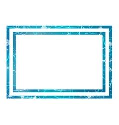Frame of ice winter frame vector