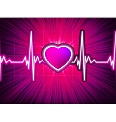 Heart beating monitor with burst EPS 10 vector image vector image