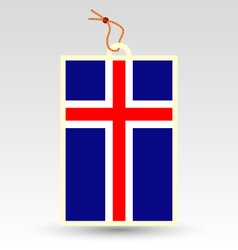 icelandic made in tag vector image