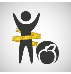Lose weight concept health food vector