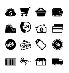 Market icons set vector