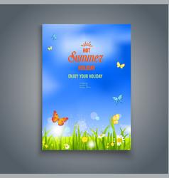 Natural template card vector