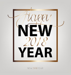 new year flat designed background with gold vector image