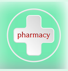 Pharmacy logo medicine white plus abstract design vector