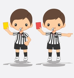 referee signals in soccer vector image