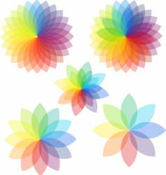 spectrum abstract colored flowers vector image vector image