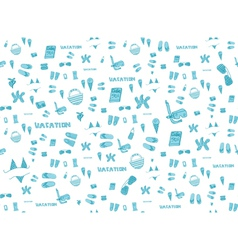 Summer vacation holiday icons seamless background vector image vector image
