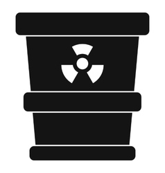 Trashcan containing radioactive waste icon vector