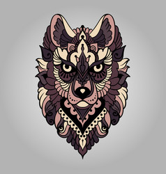 Tribal ethnic wolf vector
