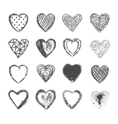 valentines day hearts set vector image vector image