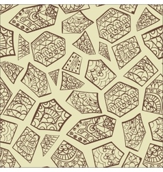 Vintage decorative hand drawn background vector image vector image
