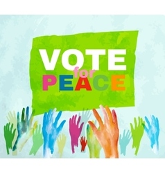 Vote for peace vector