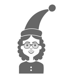 Woman with sleeping hat vector