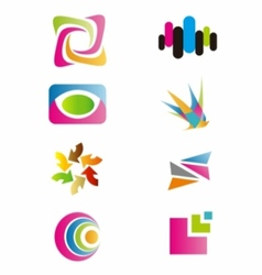 - logo colorfull set symbol vector image