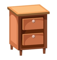 Chest of drawers icon cartoon style vector