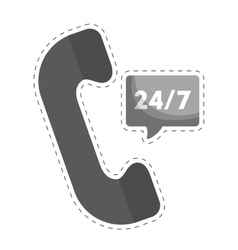 Analog telephone icon image vector