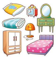 Bedroom element vector