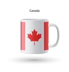 Canada flag souvenir mug on white background vector