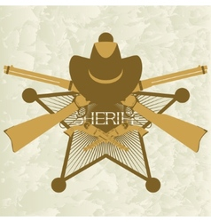 Sheriffs badge-3 vector