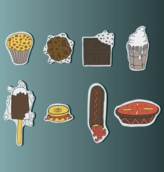Hand drawn sweets vector