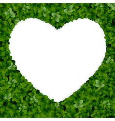 Nature background with heart vector