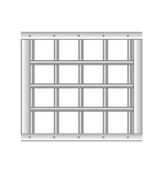 3d realistic steel prison bars vector image