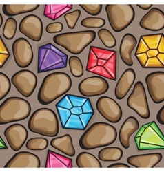 Seamless pattern of diamonds and rock vector