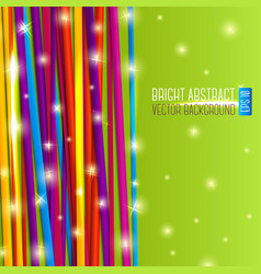 Abstract bright background with colorful laces and vector