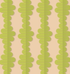 Retro fold green wavy diamonds vector