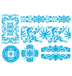 Flower fancy pattern vector