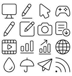 Outline ui pack9 vector