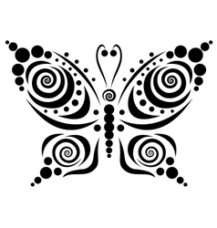 Ornamental butterfly 5 vector