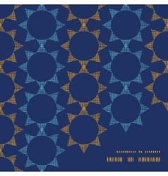 Abstract textile stars on dark geometric frame vector
