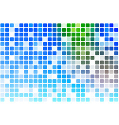 Blue green red occasional opacity mosaic over vector