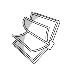 book line design icon image vector image