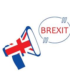 Brexit megaphone vector