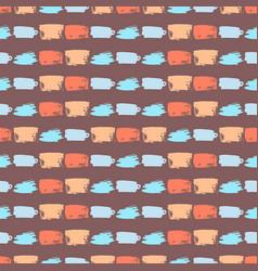 Brush stroke artistic seamless pattern vector