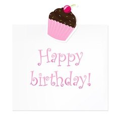 Cupcake Birthday note vector image vector image