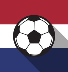 Football icon with netherlands flag vector