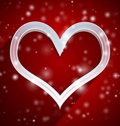 Heart applique background vector