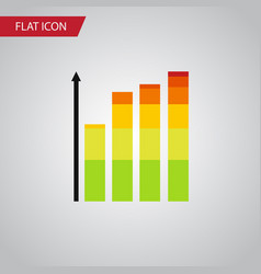 Isolated infographic flat icon statistic vector